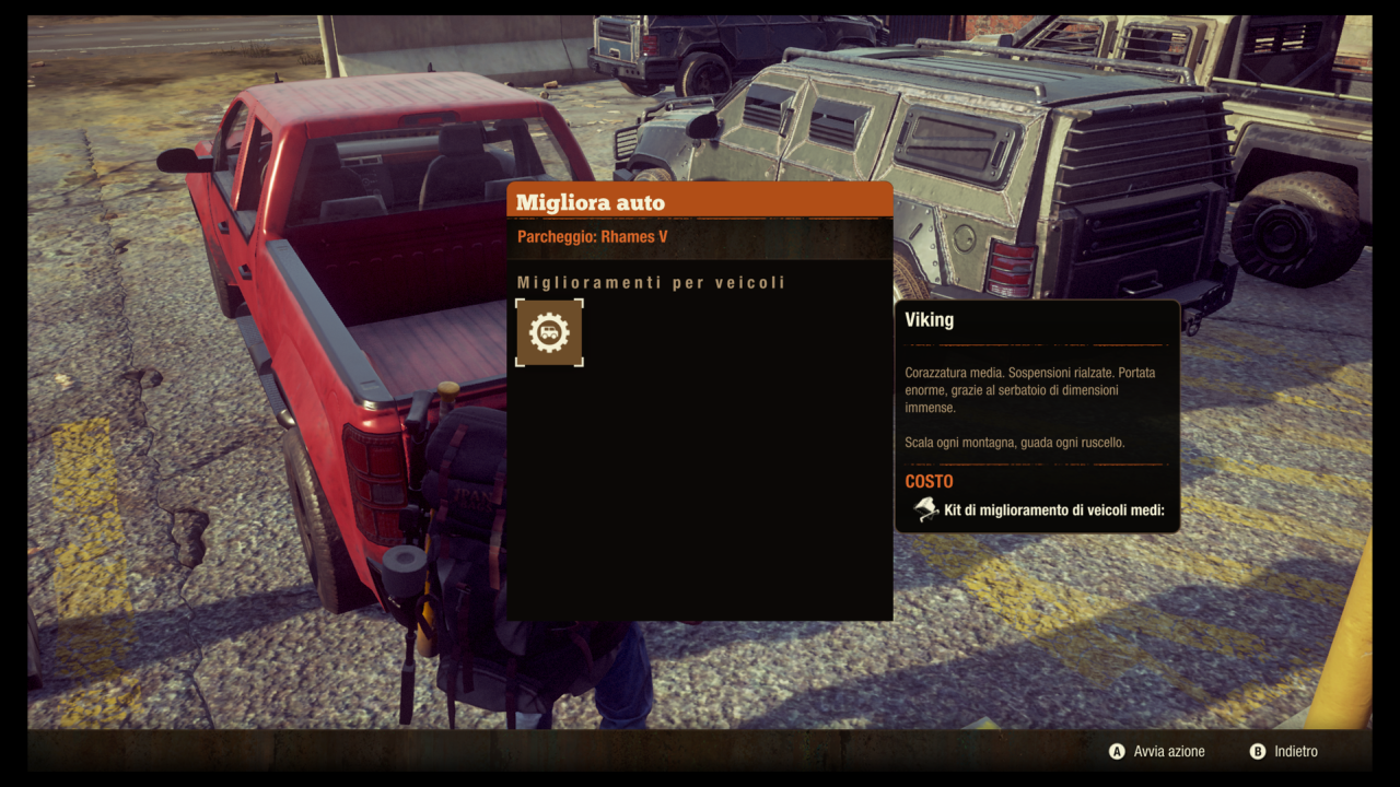 State of Decay 2 Veicoli