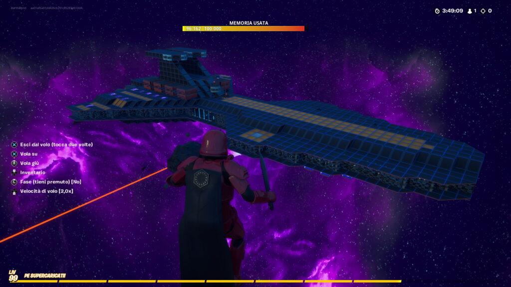 Fortnite - Ricreato lo Star Destroyer da un clan italiano